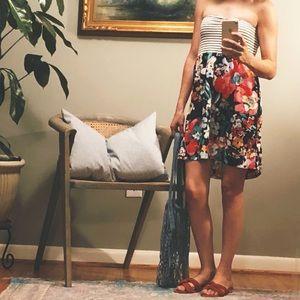 Roxy strapless casual summer dress
